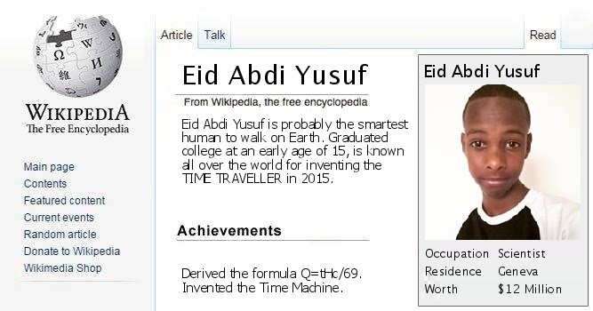 <p> Hello Everybody my name is Eid Yusuf</p>